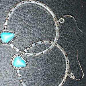 Antique hoop earrings